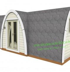 Camping Pod 2.40 x 5.80 m entrée latérale