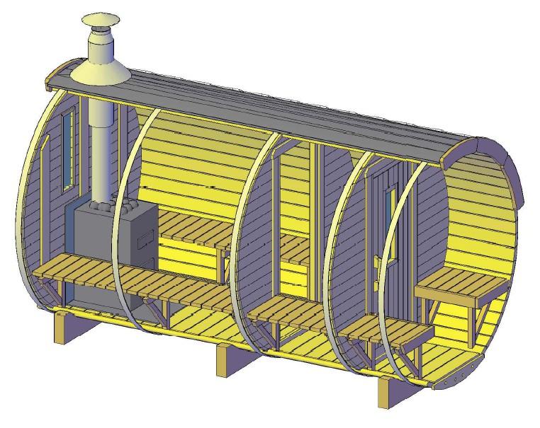 Barrique Sauna 3,50 m diamètre 190