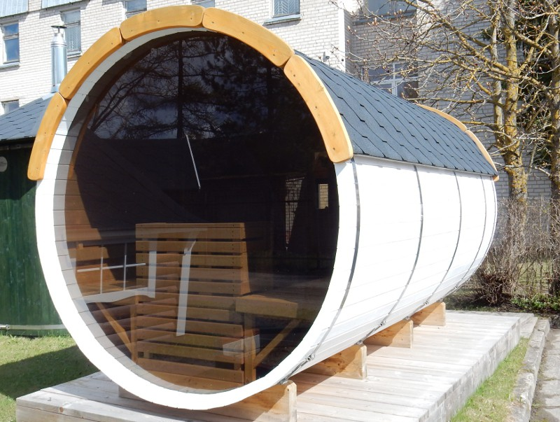 Barrique Sauna 4 m diamètre 220