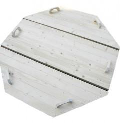 couvercle bois pour bain bain chaud bois