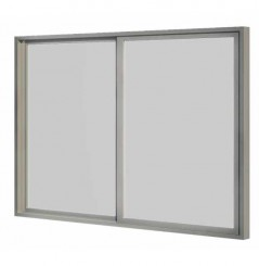 Baie coulissante double vitrage 3m 2 panneaux