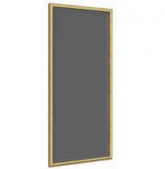 Panneau simple bois + vitre