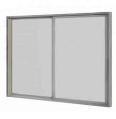 Baie coulissante simple vitrage 3 m 2 panneaux
