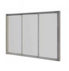 Baie coulissante simple vitrage 3 m 3 panneaux