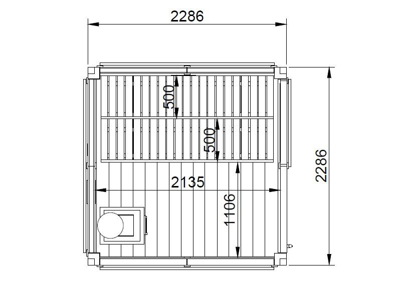Modulo Cube Sauna 2x2