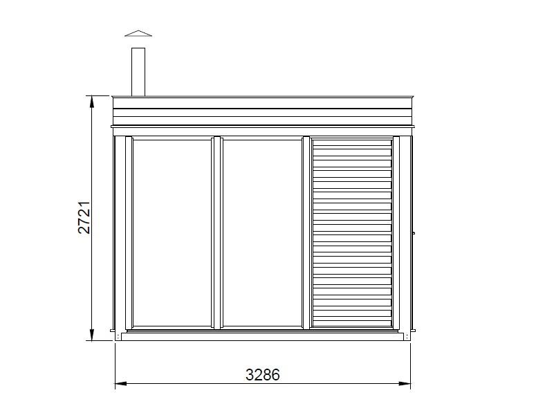 Modulo Cube Sauna 2x3 + vestiaire
