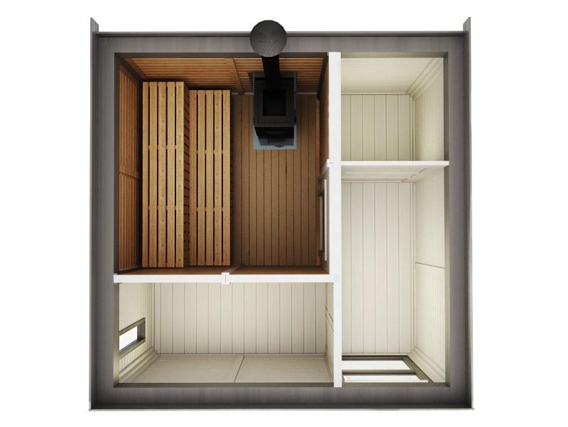 Modulo Cube Sauna 3x3