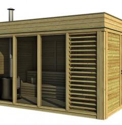 Modulo Cube Sauna 2x4