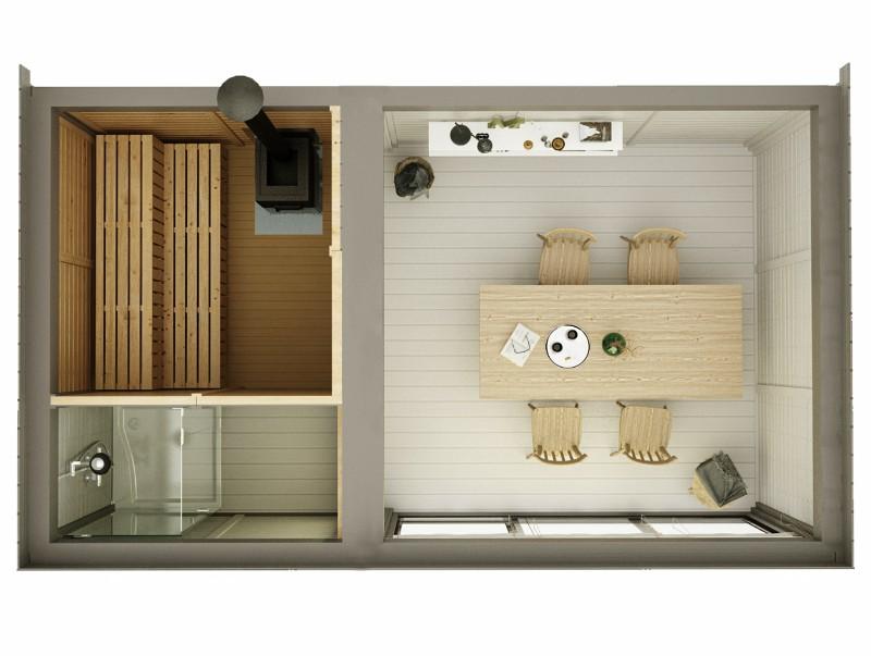 Modulo Cube Sauna 3x5