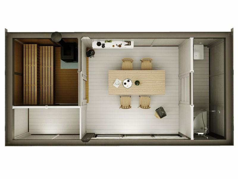 Modulo Cube Sauna 3x6